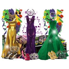 I love Mardi Gras! - Dress up is so much fun!!!, created by dona-victoria on Polyvore