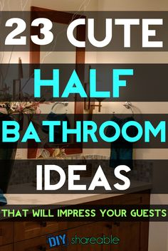 Looking for inspiration to give that small half bath a much needed makeover? The… Looking for inspiration to give that small half bath a much needed makeover? These ideas help transform the décor of your half bath, even if you're on a tiny budget! Tiny Half Bath, Small Half Baths, Small Half Bathrooms, Guest Bathrooms, Dream Bathrooms, Half Bath Decor, Half Bathroom Decor, Downstairs Bathroom, Budget Bathroom