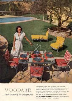 Woodard Iron Furniture Chatelaine (1950) Furniture Ads, Iron Furniture, Garden  Furniture,