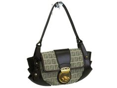 #Fendi #ShoulderBag Zucchino Jacquard/Leather DarkBrown/Be 8BR429(BF051285) - Now: $246