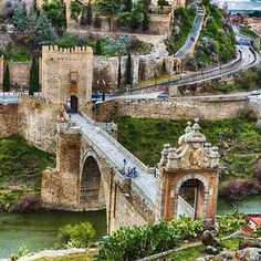 Bridge of Alcántara in Toledo, Spain
