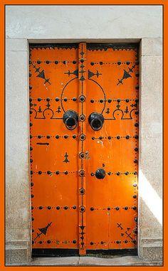 tunisian orange door