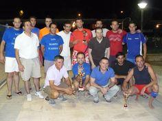 Imagen de los jugadores del Harpo Aladine, equipo ganador del Torneo de Volei-Playa 2012 de Pedro Muñoz