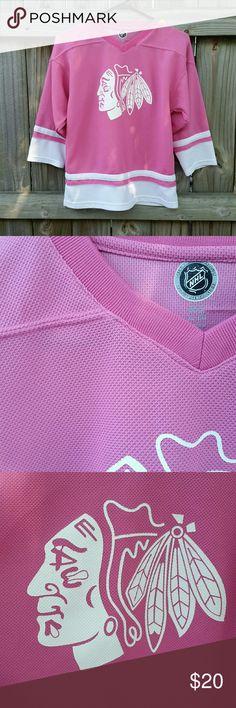 NHL Blackhawks jersey Girls size XL 14-16. Pink Blackhawks hockey jersey. nhl Shirts & Tops