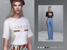 Gucci Print Tshirt for The Sims 4