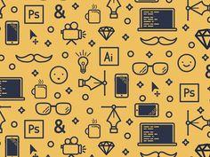 Daily Design 031 - Background Icon Pattern by Mackenzie Child