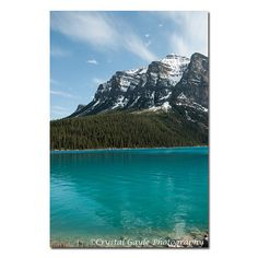 Mountain Picture Lake Louise Print Canadian by CrystalGaylePhoto
