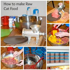 How to make Raw Cat Food, step by step process and recipe http://meowlifestyle.com/how-to-make-raw-cat-food/ #rawcatfood