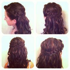 7.31.12 updo by me, CXL=] please repin. #beautyschool #updo #braids #curls #hairstylist #GlamToGo #ChelseaToGo