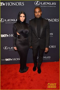 Kim Kardashian and Kanye West hold hands on the red carpet while attending the 2015 BET Honors Awards on Saturday evening (January 24) at the Warner Theatre in Washington, D.C.