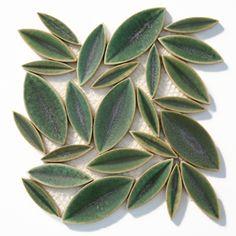 SOLI | Leaf Ceramic Mosaic | nature backsplash