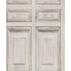 Muriva Wood Frames Pattern Painted Distressed Panel Wallpaper J92207