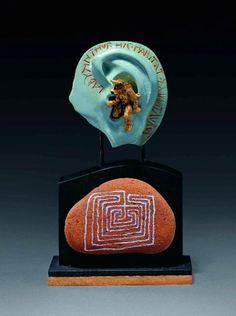 kevin coates jewelry | Kevin Coates,'Labyrinthus Hic Habitat Minotaurus', 2000, 20ct gold ...