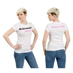Personalized Bridal Party T Shirts, $23.99 Order yours today-- https://www.zoeandeve.com