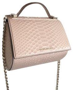 Givenchy Pandora Box Chain Light Pink Python Cross Body Bag 4% off retail 87cea5c40378e
