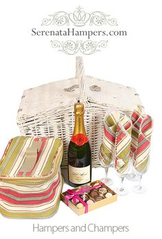 Hampers and Champers, £109.99, #luxury #hampers #gifts