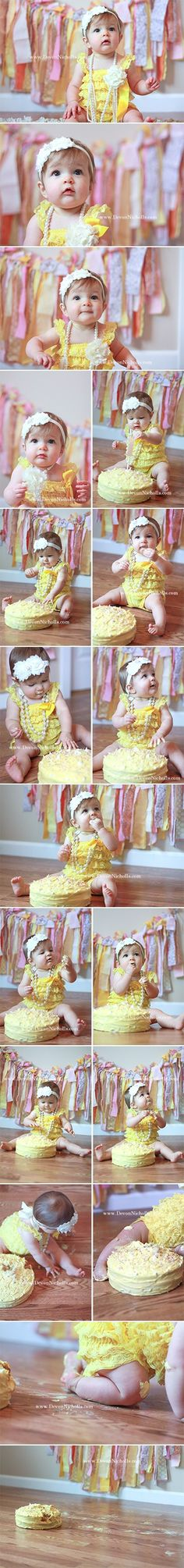 cake smash photo shoot, one year old, cake, baby girl, Devon Nicholls Photography