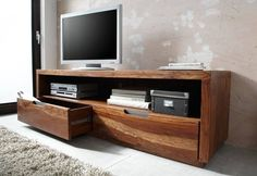 TV - Board / Industrial / Altholz lackiert / Walnuss / 175 x 50 x 55