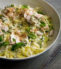 Chicken coleslaw with tahini, mint & dill | Karen Martini