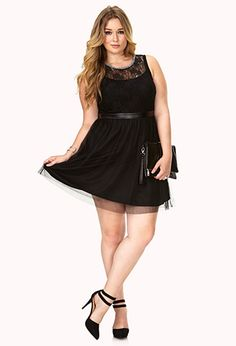 Party Hour Lace & Tulle Dress   FOREVER 21 - 2040495334
