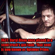 Screw David Attenborough and Chuch Norris. Daryl Dixon. Seriously in loveee