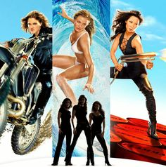 """""""Charlie's Angels: Full Throttle"""" starring Cameron Diaz, Drew Barrymore and Lucy Liu. She Movie, Movie Tv, Charlie's Angels Full Throttle, Kung Fu, Charlies Angels Movie, Angel Movie, Capas Dvd, Kino Film, Columbia Pictures"""
