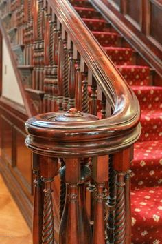1913 Stone Mansion In Louisville Kentucky — Captivating Houses Staircase Railings, Curved Staircase, Modern Staircase, Grand Staircase, Staircase Design, Stairways, Stone Mansion, Wooden Stairs, Second Empire