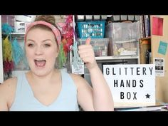 May Glittery Hands Box unboxing video! a craft subscription box for sassy crafters.