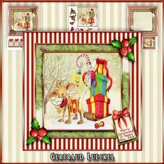 Card Topper with matching insert christmas 1010 on Craftsuprint - View Now!