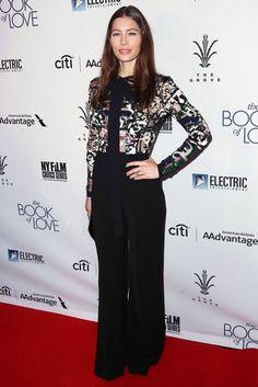 Jessica Biel wore Elie Saab. The Book Of Love premiere, Los Angeles - January 10 2017