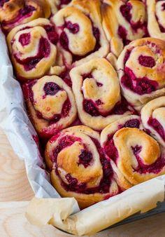 Rasberry sweet rolls. Sounds fantastic.
