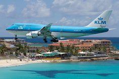 Maho Beach, St Maarten, Caribe.