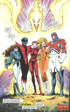 Excalibur: Shadowcat, Nightcrawler, Rachel Summers, Meggan, & Captain Britain
