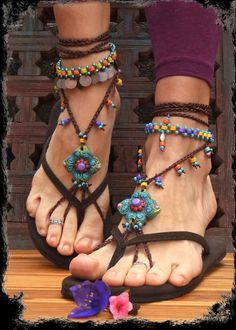 Green BAREFOOT SANDALS SUMMER crochet sandals Hippie beaded soleless shoes foot jewelry beach wedding Bohemian Gypsy shoes photo shoot props