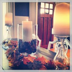 Happy Fall!  Fall dining table