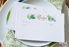 Share your favorite summer dishes with this Summer Recipe Card Printable from Inspired by Charm!