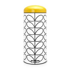 Brabantia Retro Pedal Bin by Orla Kiely, 30 L - Cream Linear Stem. Box Contains 1 x Brabantia Retro Pedal Bin by Orla Kiely - 30 L. Orders will be fulfilled by our own warehouse or a party supplier at our discretion.
