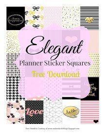 Free Printable Elegant Planner Sticker Squares Andrea Nicole Blogs