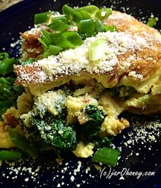 Spinach Omelet for Two by jarOhoney Spinach Recipes, Egg Recipes, Real Food Recipes, Great Recipes, Vegetarian Recipes, Cooking Recipes, Favorite Recipes, Superfood Recipes, Healthy Eating Recipes