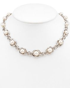 Honora Orchid Cultured Freshwater Pearl Sterling Silver Necklace QVC Sold Out