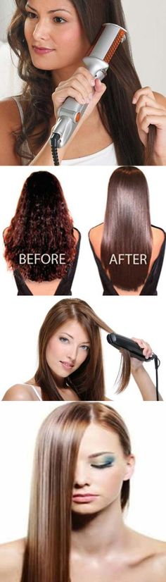 37 Ideas Hairstyles For Medium Length Hair Diy Curls Flat Irons Hairstyles For School, Hairstyles With Bangs, Diy Hairstyles, Diy Your Hair, How To Curl Your Hair, Medium Hair Styles, Long Hair Styles, Hair Without Heat, Flat Iron Curls