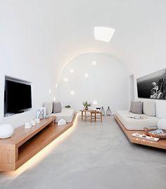 Вилла в тихой деревне на острове Санторини, в Греции | Дизайн интерьера, декор, архитектура, стили и о многое-многое другое
