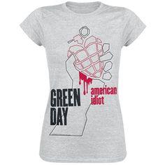 """Maglietta donna a maniche corte """"American Idiot"""" dei #GreenDay."""