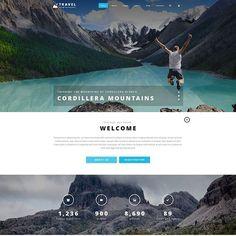 Joomla Template for Travel Agency Website Photoshop Web Design, Travel Agency Website, Joomla Templates, Website Themes, Website Template, Trekking, Seo, Chicago, Studio