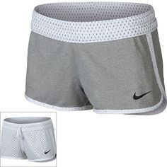 Women's Nike Dri-FIT Reversible Workout Shorts ($35) ❤ liked on Polyvore featuring activewear, activewear shorts, white, nike sportswear, nike activewear and nike