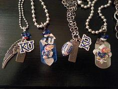 Kansas University Jewelry KU..  Sideline Chic www.facebook.com/lwake.sidelinechic