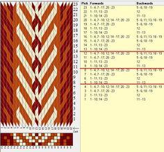 23 tarjetas, 3 colores, repite cada 4 movimientos // sed_669 diseñado en GTT༺❁