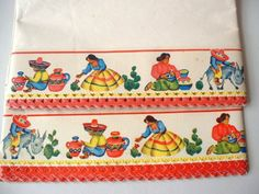 Vintage Shelf Liner Paper Southwestern Border Design - would be great with a Fiesta collection!