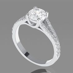 1 CT Round Cut Diamond Engagement Ring D/SI 14K White Gold Enhanced #SALE #beautiful #gold #diamondring
