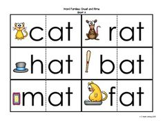 """This file contains short """"a"""" word families cards to be used in a variety of ways in your classroom.  Use these cards in your guided reading groups, at centers or for whole group instruction.  Each word is broken into the onset and rime.  The cards can be used to help students blend and segment words, sort words based on the word family, etc."""